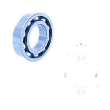 80 mm x 125 mm x 22 mm  Fersa 6016-2RS deep groove ball bearings
