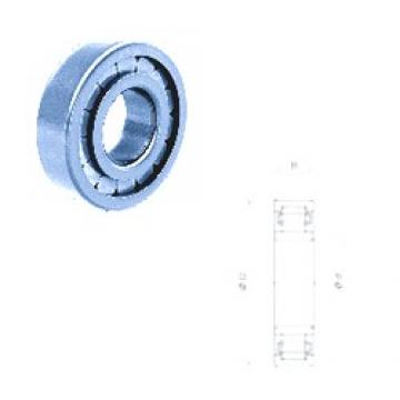 35 mm x 72 mm x 23 mm  Fersa NU2207FM cylindrical roller bearings