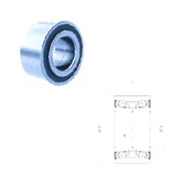 43 mm x 78 mm x 44 mm  Fersa F16193 angular contact ball bearings