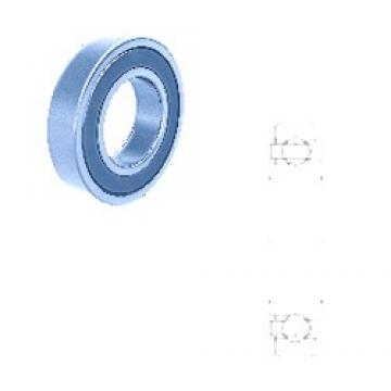 25,995 mm x 68 mm x 21,550 mm  Fersa F18024 deep groove ball bearings