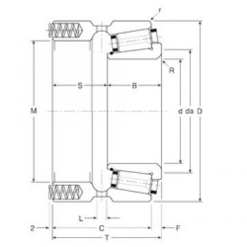 234,95 mm x 327,025 mm x 55 mm  Gamet 244234X/244327XP tapered roller bearings