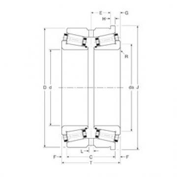 Gamet 180101X/180190H tapered roller bearings