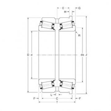 Gamet 210095/210170H tapered roller bearings