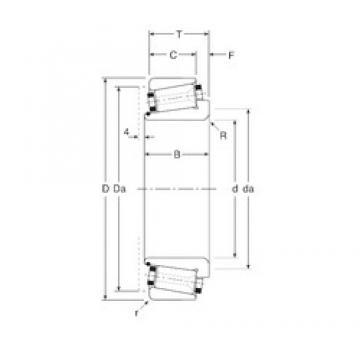 230 mm x 330 mm x 55 mm  Gamet 244230/244330 tapered roller bearings