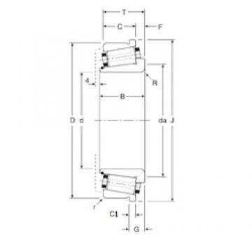 76,2 mm x 127 mm x 33,5 mm  Gamet 133076X/133127C tapered roller bearings