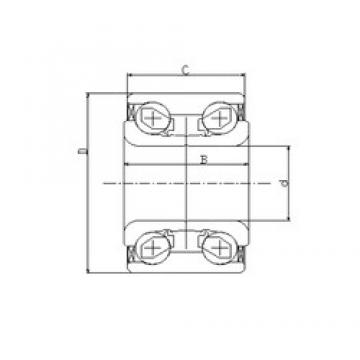 35 mm x 72 mm x 33 mm  ILJIN IJ131027 angular contact ball bearings