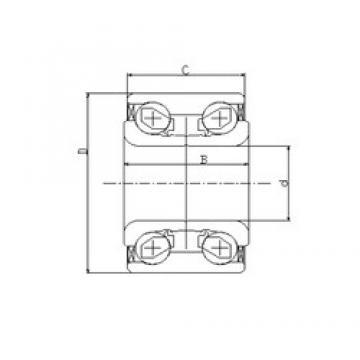 42 mm x 76 mm x 39 mm  ILJIN IJ121003 angular contact ball bearings